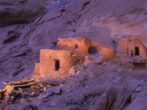 Ruins of Ancient Pueblo Indian or Anasazi Dwellings by Ira Block