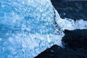 Solheimajokull Glacier on Iceland's South Coast by Ira Block
