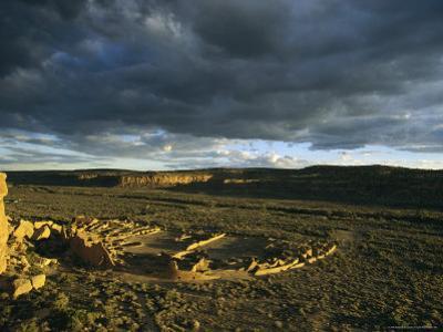 Twilight View of the Anasazi Ruins at Pueblo Bonito by Ira Block