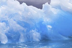 Close Detail of a Jagged Blue Iceberg by Ira Meyer