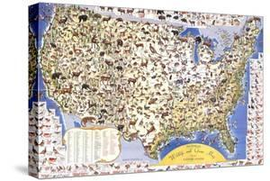 Wildlife And Game Map Of The United States by Ira Moss