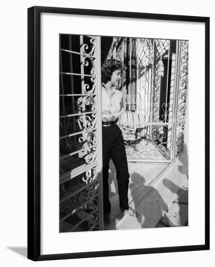 Ira Von Fuerstenberg Smiling--Framed Photographic Print