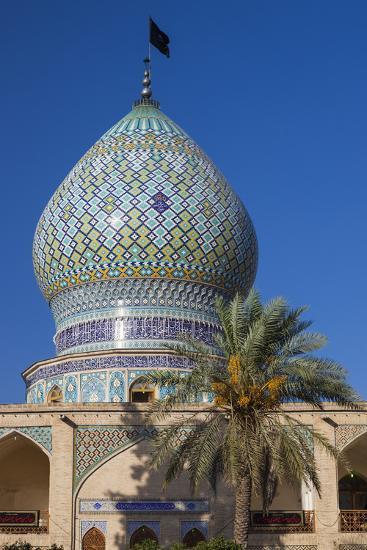 Iran, Central Iran, Shiraz, Imamzadeh-ye Ali Ebn-e Hamze, 19th century tomb of Emir Ali, dome-Walter Bibikw-Photographic Print