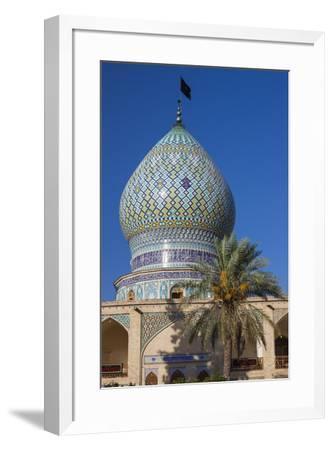 Iran, Central Iran, Shiraz, Imamzadeh-ye Ali Ebn-e Hamze, 19th century tomb of Emir Ali, dome-Walter Bibikw-Framed Photographic Print