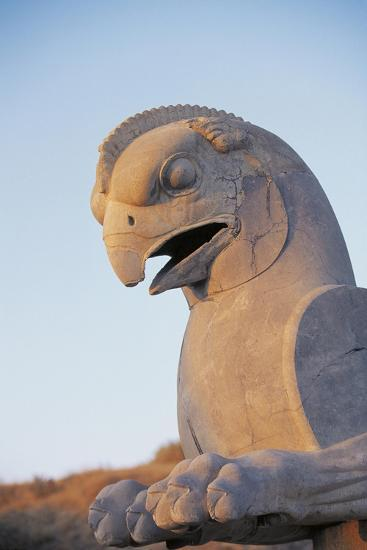 Iran, Fars Province, Persepolis, Sculpture of Head of Bird at Throne Hall--Giclee Print