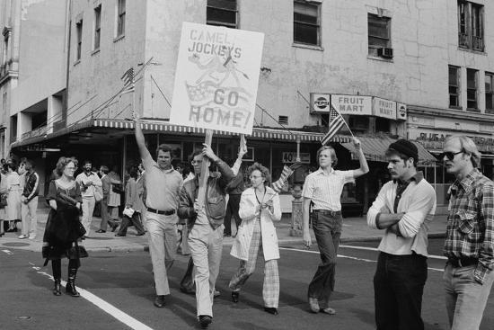 Iran Hostage Crisis student demonstration, Washington, D.C., 1979-Marion S^ Trikosko-Photographic Print