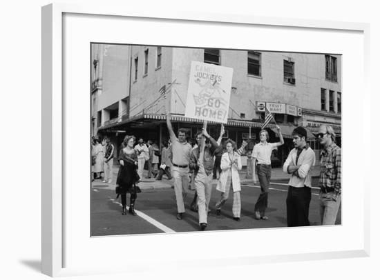 Iran Hostage Crisis student demonstration, Washington, D.C., 1979-Marion S. Trikosko-Framed Photographic Print
