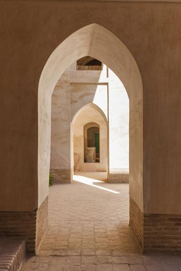 Iran, Natanz, Jameh Mosque, Arches-Walter Bibikow-Premium Photographic Print