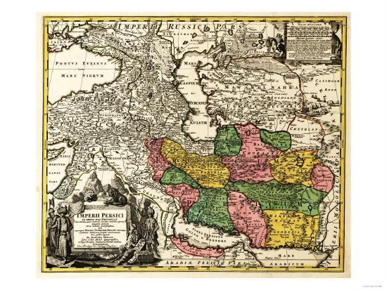 Iran - Panoramic Map-Lantern Press-Art Print