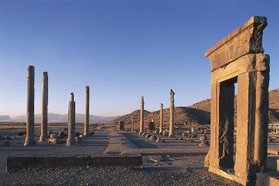 Iran, Persepolis, Apadana Palace, Columns--Giclee Print