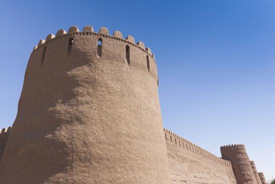 Iran, Rayen, Arg E Rayen, Ancient Adobe Citadel-Walter Bibikow-Premium Photographic Print