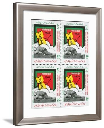 Iranian Postage Stamps Commemorating the 1988 Tragedy of Halabja--Framed Giclee Print