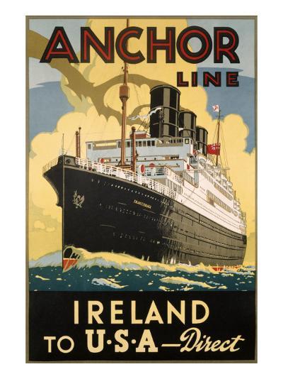 Ireland and USA--Art Print