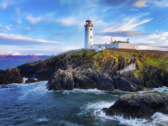 Ireland, Co.Donegal, Fanad, Fanad lighthouse at dusk-Shaun Egan-Photographic Print