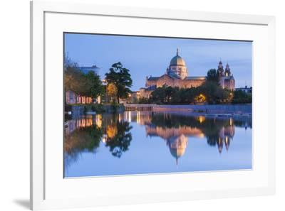Ireland, County Galway, Galway City, Galway Cathedral, exterior, dusk-Walter Bibikw-Framed Photographic Print
