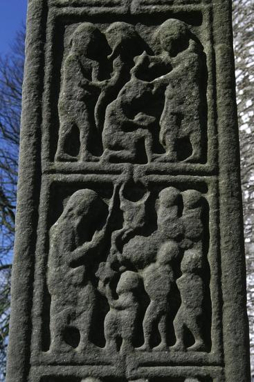 Ireland, County Louth, Monasterboice, Muiredach Cross, Detail--Giclee Print
