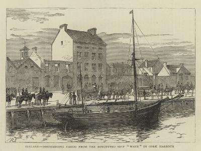 Ireland, Discharging Cargo from the Boycotted Ship Wave in Cork Harbour--Giclee Print