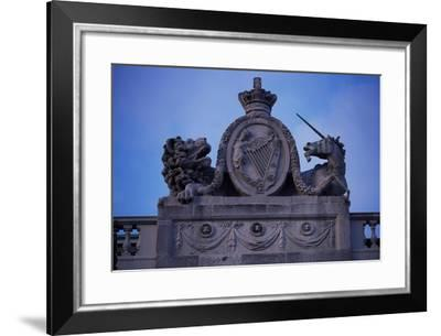 Ireland, Dublin, Detail of Ornamental Friezes on Four Courts, Which Houses Irish Supreme Court--Framed Giclee Print