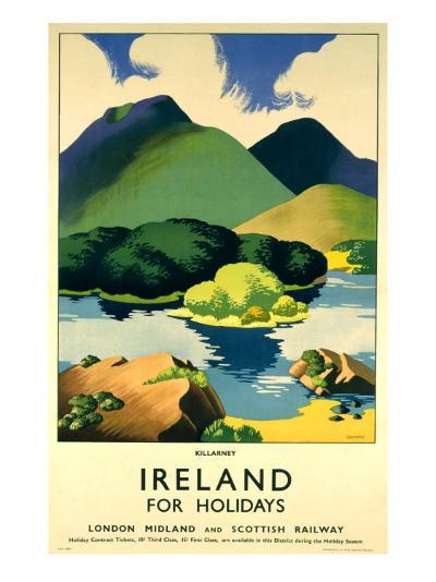 Ireland for Holidays, Killarney-Clodagh Sparrow-Giclee Print