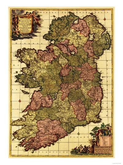Ireland - Panoramic Map-Lantern Press-Art Print