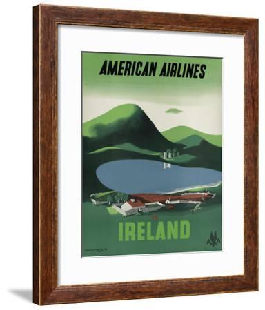 Ireland - Ross Castle, Killarney National Park - American Airlines-Edward Mcknight-Kauffer-Framed Giclee Print