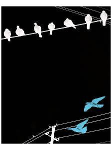 Birds on Power Lines II by Irena Orlov