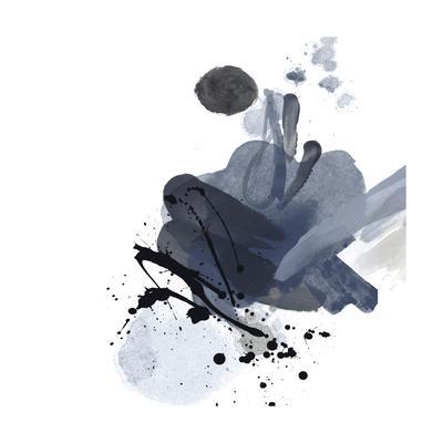 Blue & Black Splash I