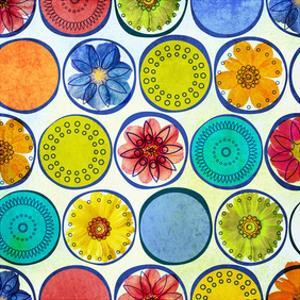Circle Pattern with Flowers II by Irena Orlov