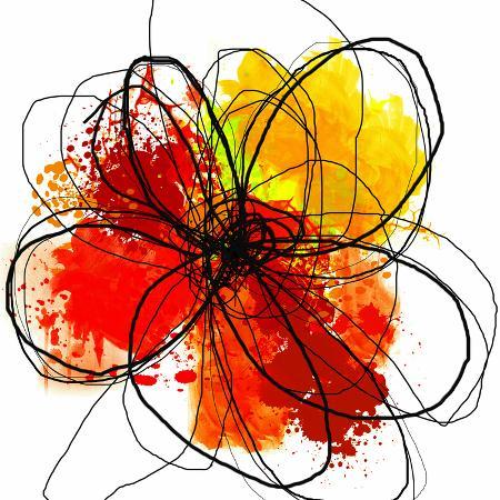 irena-orlov-red-abstract-brush-splash-flower-ii