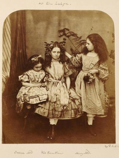 Irene Macdonald, Flo Rankin and Mary Macdonald at Elm Lodge, Hampstead, July 1863-Lewis Carroll-Giclee Print