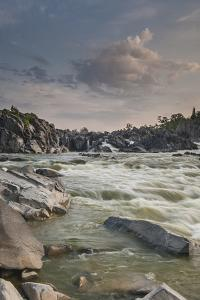 Great Falls of the Potomac River, from Fishermen's Eddy on the Virginia Side by Irene Owsley