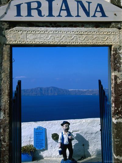 Iriana Cafe and Bar, Santorini, Greece-Glenn Beanland-Photographic Print