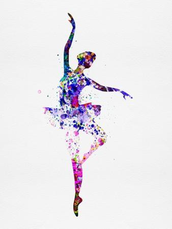 Ballerina Dancing Watercolor 2 by Irina March
