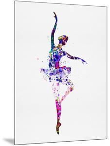Ballerina Dancing Watercolor 2 by Irina March
