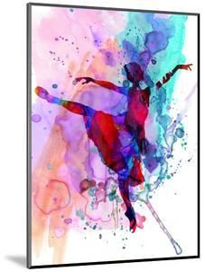 Ballerina's Dance Watercolor 1 by Irina March