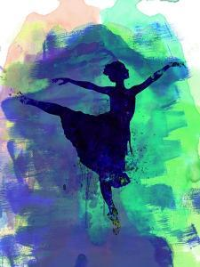 Ballerina's Dance Watercolor 2 by Irina March