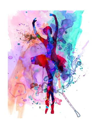 Ballerina's Dance Watercolor 3 by Irina March