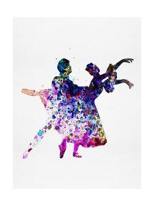 Ballet Dancers Watercolor 1 by Irina March