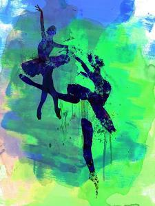 Two Ballerinas Watercolor 2 by Irina March