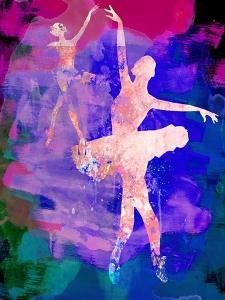 Two Dancing Ballerinas Watercolor 1 by Irina March