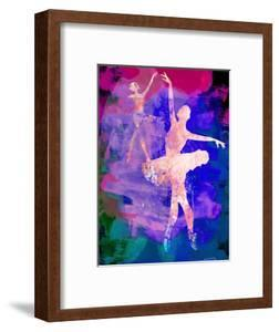 Two Dancing Ballerinas Watercolor 1 by Irina March
