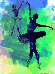 Two Dancing Ballerinas Watercolor 3 by Irina March
