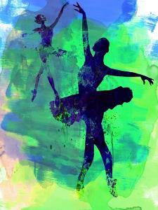 Two Dancing Ballerinas Watercolor 3 by Irina March