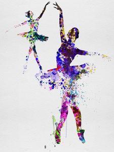 Two Dancing Ballerinas Watercolor 4 by Irina March