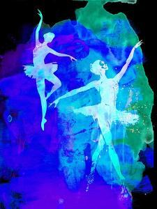Two White Dancing Ballerinas by Irina March