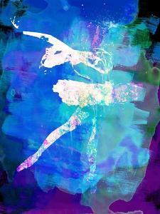 White Ballerina Watercolor by Irina March