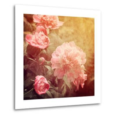 Art Floral Vintage Background with Pink Peonies