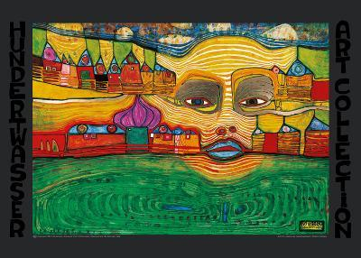 IRINALAND OVER THE BALKANS-Friedensreich Hundertwasser-Art Print