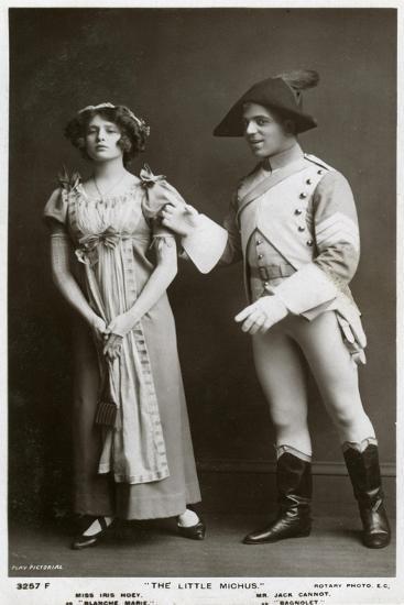 Iris Hoey and Jack Cannot, British Actors, C1908--Giclee Print