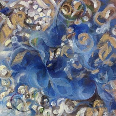 Iris Swirl-li bo-Giclee Print
